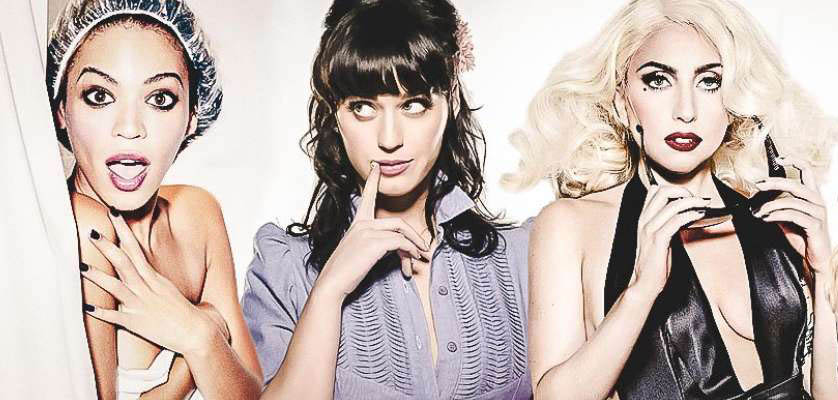 beyonce, katy perry, lady gaga