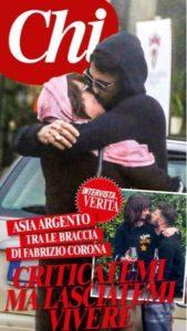 Fabrizio Corona bacia Asia Argento.