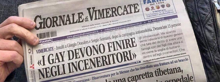giornale vimercate omofobia