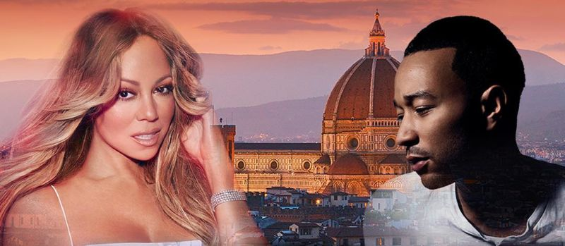 Mariah Carey e John Legend a Firenze