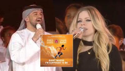 Avril Lavigne e Luis Fonsi cantano l'inno ufficiale dei giochi olimpici Abu Dhabi 2019 (VIDEO)