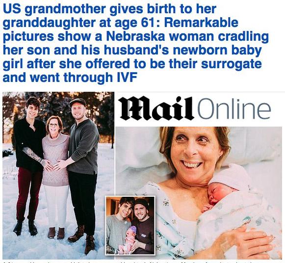 madre surrogata, figlio gay, nonna