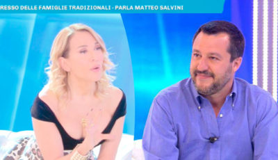 Barbara D'Urso si scontra con Salvini