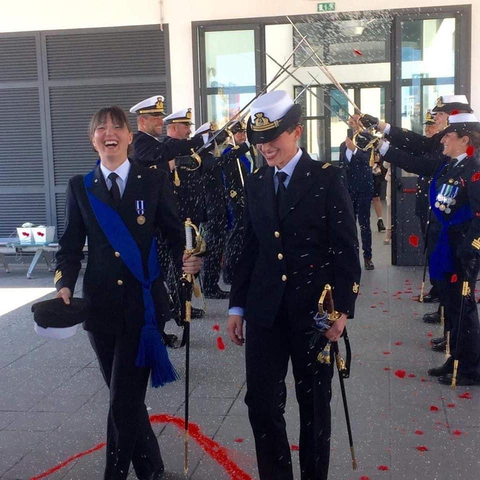 Rosa Maria e Lorella, due ragazze della Marina Militare italiana