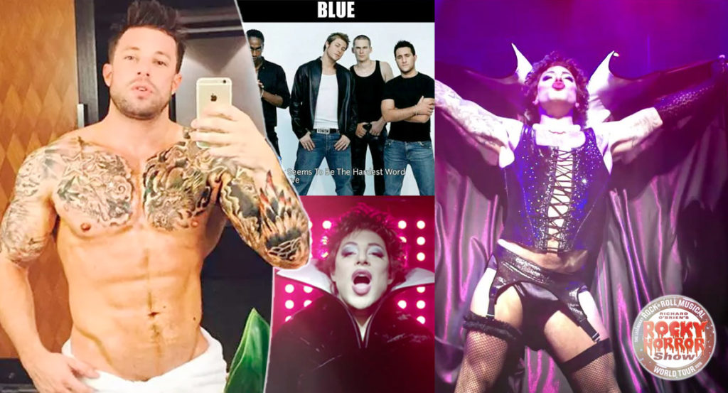 "Duncan James dei Blue è una drag queen in ""The Rocky Horror Picture Show"""