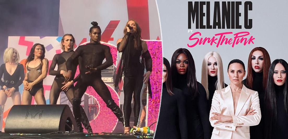 melanie c, sink the pink