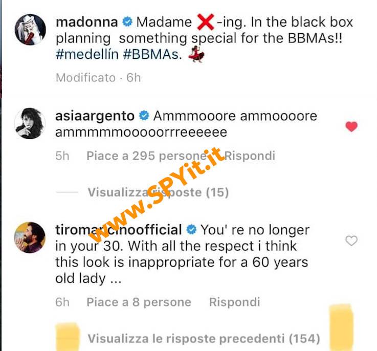 tiromancino madonna instagram