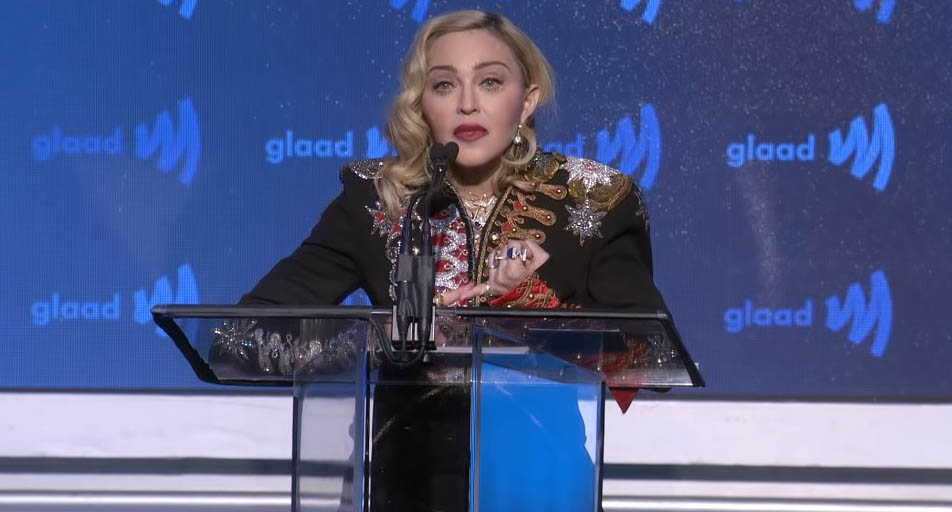 madonna, Advocate for Change ai GLAAD Media Awards