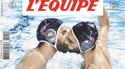 bacio gay, sport