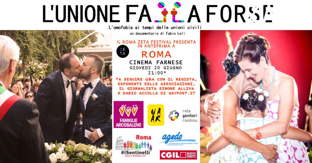 Omofobia e unioni civili: anteprima a Roma del film L'unione falla forse