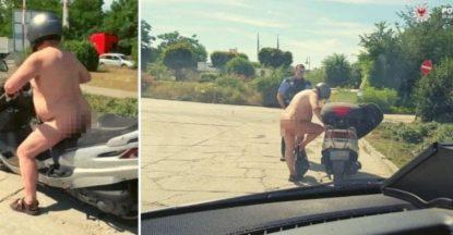 """Gira nudo in scooter, fermato dalla polizia. La sua giustificazione: """"Fa troppo caldo"""""""