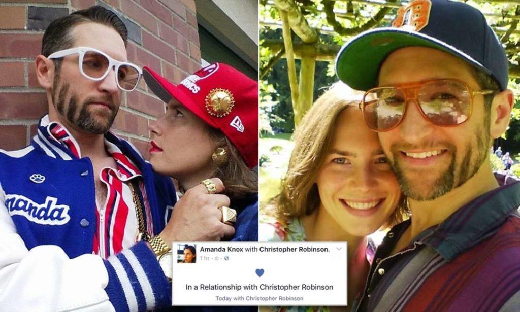 Amanda Knox e il suo fidanzato Christopher Robinson