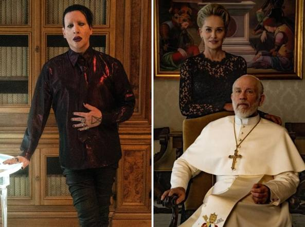 The New Pope marylin manson sharon stone