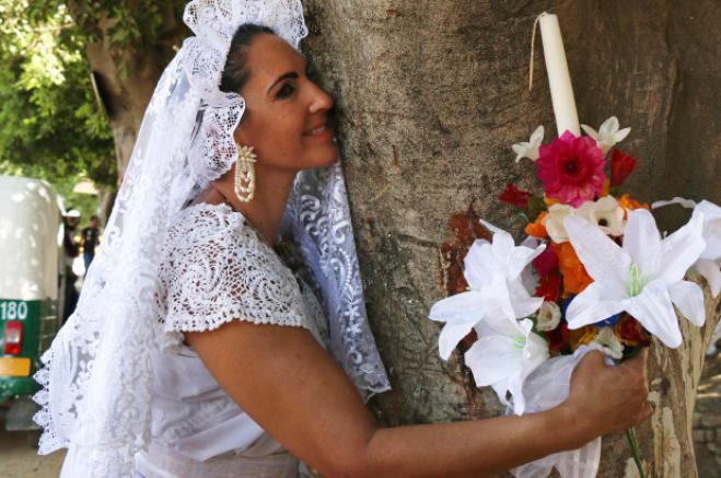 donna sposa albero messico