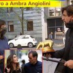 """L'insopportabile bullismo del tapiro di """"Striscia"""" ad Ambra Angiolini e la bellissima risposta della figlia a Staffelli (VIDEO)"""